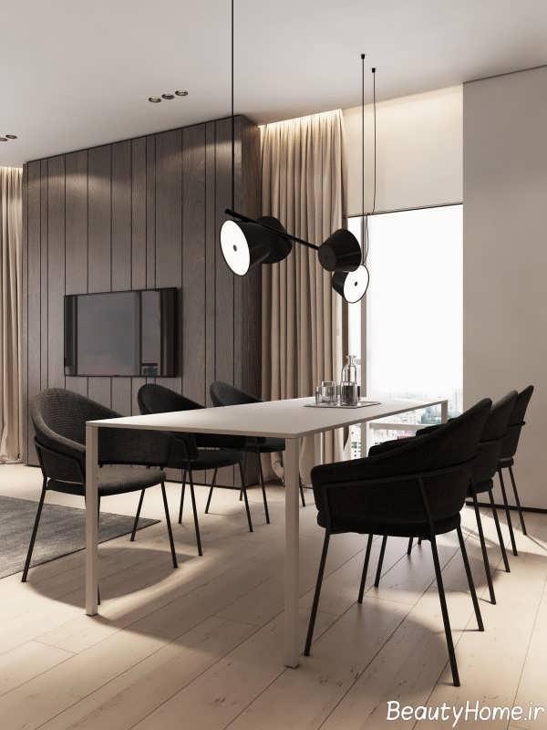 طراحی محیط داخلی آپارتمان با چوب گردو