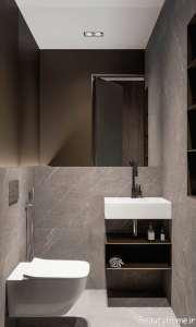دکوراسیون حمام با چوب گردو