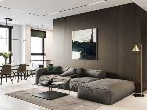 طراحی لاکچری فضای داخلی با چوب گردو