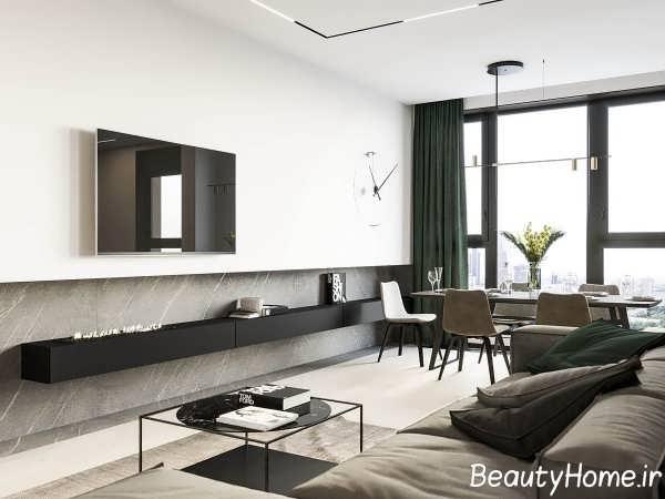 طراحی مدرن با چوب گردو
