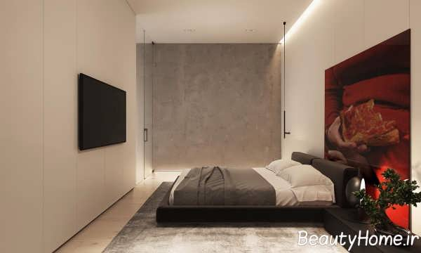 طراحی فضای داخلی اتاق خواب با چوب گردو