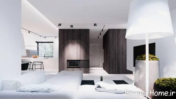 طراحی اتاق پذیرایی با چوب گردو