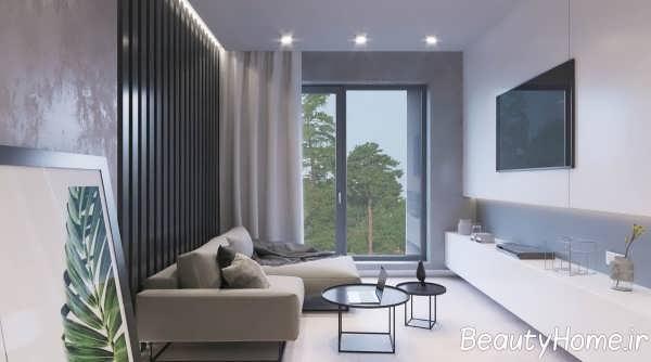 طراحی ایده آل اتاق پذیرایی آپارتمان