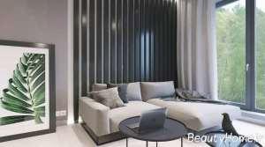 نمای داخلی اتاق نشیمن آپارتمان
