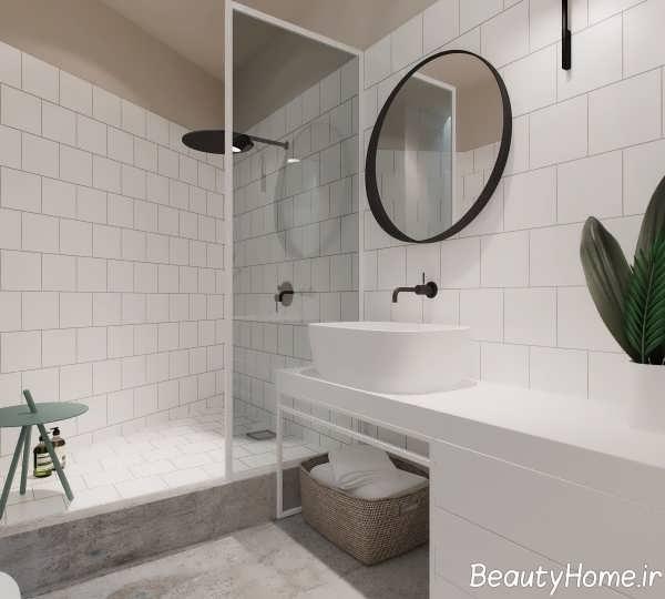 نمای داخلی مدرن حمام آپارتمان