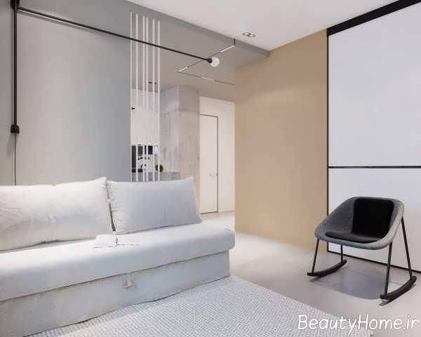 نمای شیک فضای داخلی آپارتمان