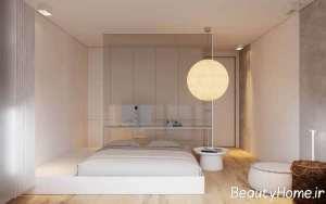 طراحی شیک اتاق خواب آپارتمان