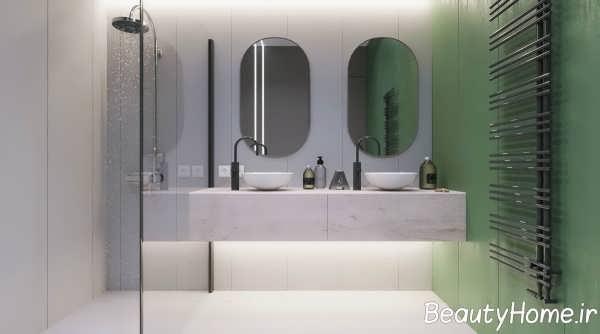 نمای داخلی حمام آپارتمان