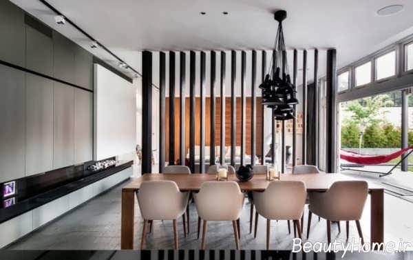 طراحی دکور زیبا با پارتیشن بندی اتاق
