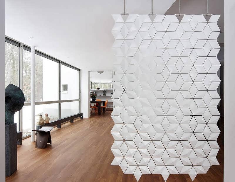 ایده های جداسازی اتاق با پارتیشن و قفسه