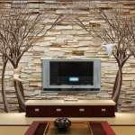 کاغذ دیواری پشت ال سی دی و تلویزیون