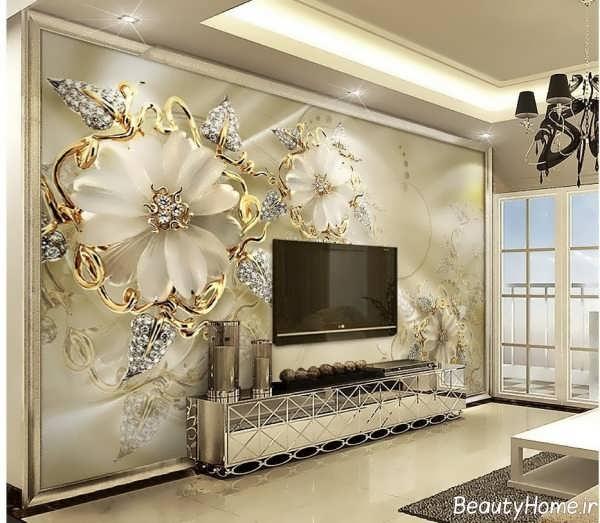 کاغذ دیواری طلایی برای پشت ال سی دی