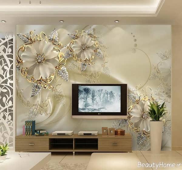 40 طرح جدید کاغذ دیواری پشت ال سی دی و تلویزیون