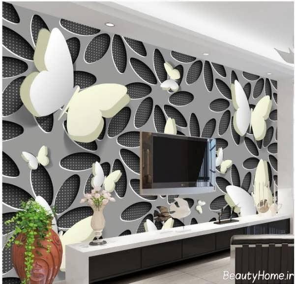 مدل کاغذ دیواری سه بعدی برای پشت ال سی دی