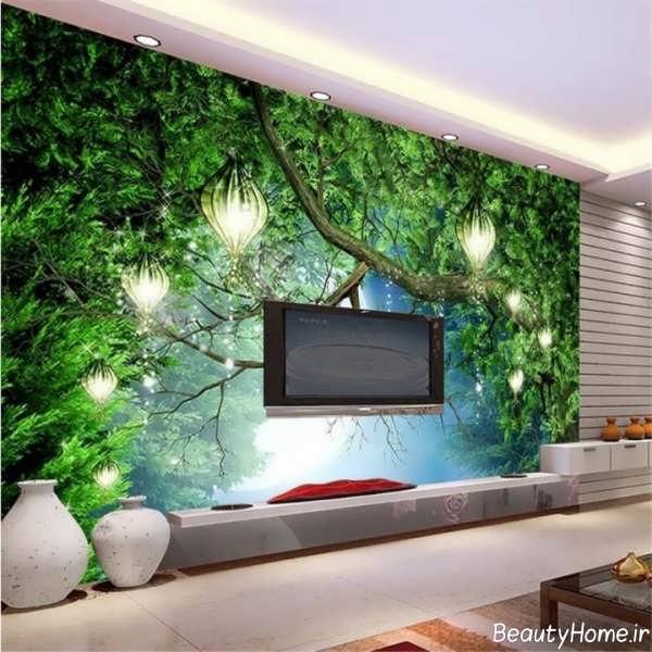 مدل کاغذ دیواری پوستری برای دیوار پشت ال سی دی