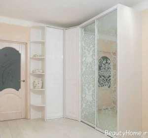 کمد دیواری با طرح شیشه