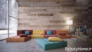 طراحی مدرن منزل با چوب