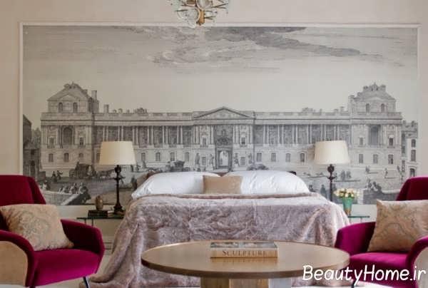 تزیین دیوار بالای تخت خواب با نقاشی