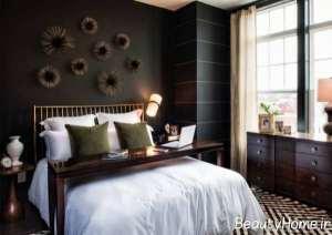 طراحی فضای خالی بالای تخت خواب با دکور