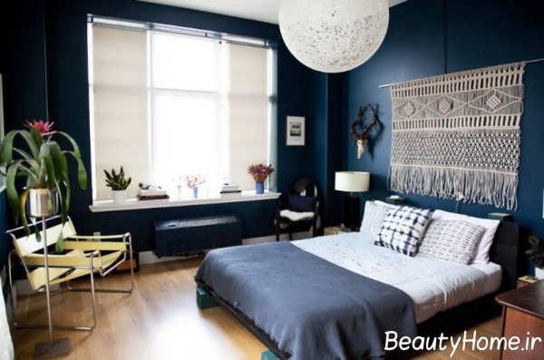 طراحی شیک و زیبا بالای تخت خواب