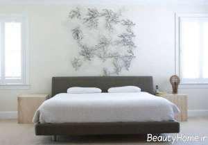 طراحی جالب بالای تخت خواب