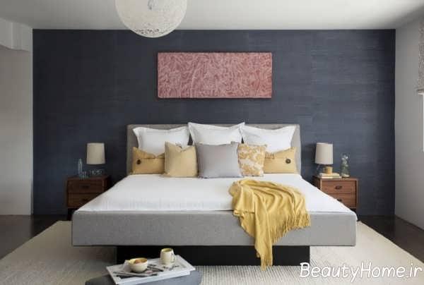 طراحی عالی بالای تخت خواب