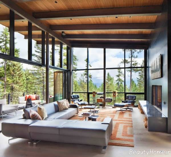 30 - Expansive large glass windows living room pros cons ...