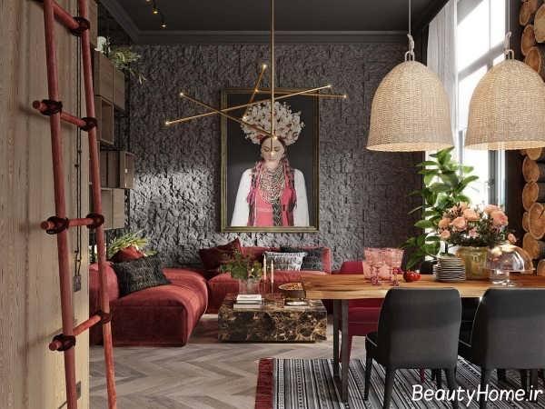 طراحی داخلی زیبا و کاربردی سالن پذیرایی