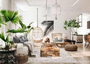 ایده هایی برای طراحی داخلی سالن پذیرایی روستیک