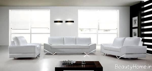 مدل مبل سفید راحتی