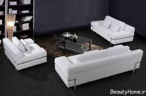 مبلمان سفید و زیبا