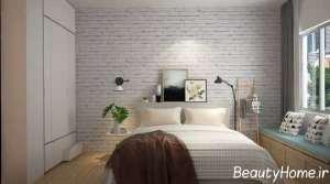 چیدمان اتاق خواب با دکورهای دیواری