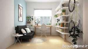 دکوراسیون اتاق پذیرایی با دکور دیواری