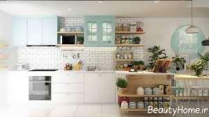 چیدمان آشپزخانه با دکور دیواری