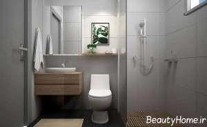 حمام لاکچری با دکوری دیواری