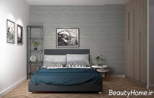 تزییین ایده آل اتاق خواب با دکوری دیواری