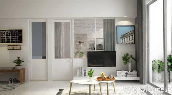 تزیین اتاق پذیرایی با دکور دیواری