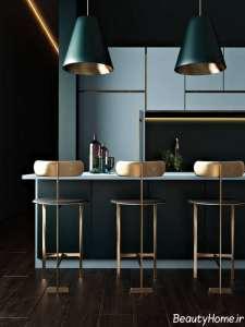 رنگ آبی در دیزاین ایده آل آشپزخانه
