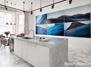 طراحی آشپزخانه با تم آبی