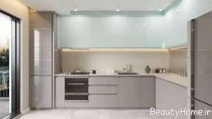 طراحی ایده آل آشپزخانه با تم آبی
