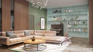 طراحی عالی اتاق پذیرایی