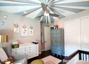 رنگ آمیزی متفاوت سقف اتاق پذیرایی