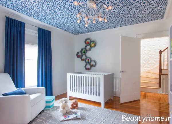 دیزاین برجسته سقف با رنگ آمیزی