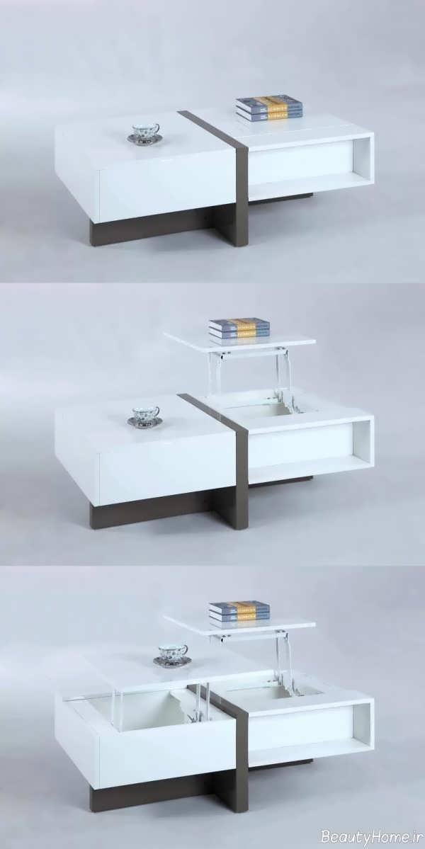 مدل میز جلو مبلی چند کاره ام دی اف