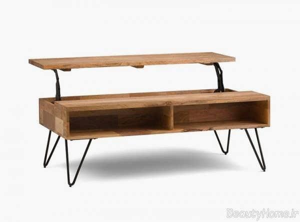 میز جلو مبلی چند کاره ساده