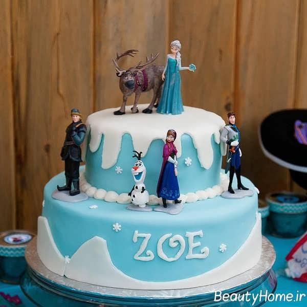 تزیین کیک تولد با تم فروزن