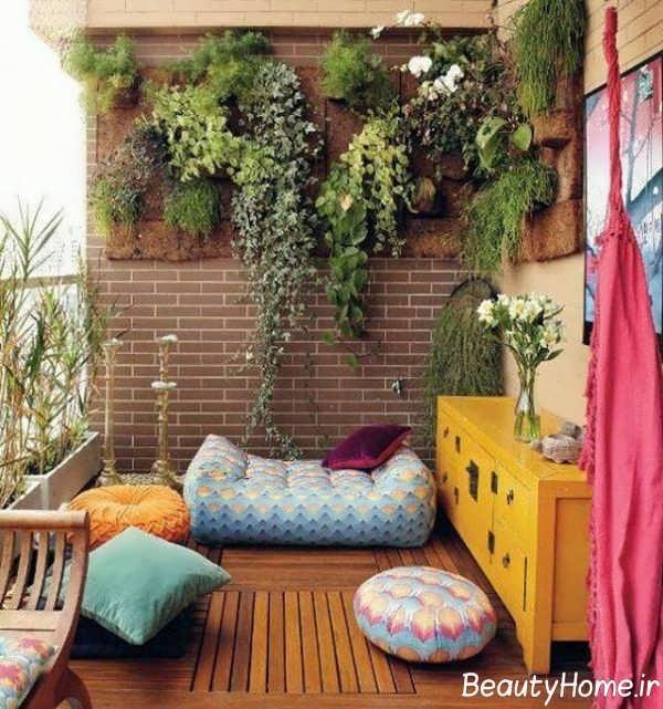 طراحی داخلی فضای سبز در بالکن