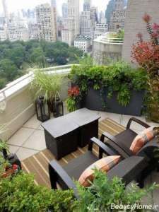 فضای سبز زیبا و ایده آل بالکن