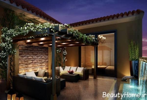 دیزاین داخلی زیبا و شیک بالکن