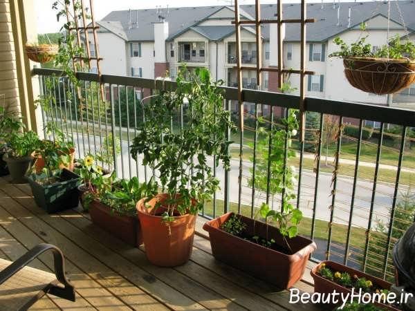 فضای سبز در بالکن